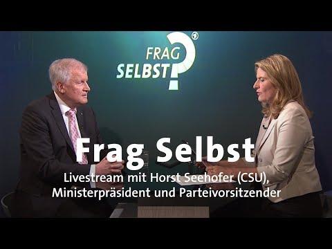 """Livestream: """"Frag Selbst"""" mit Horst Seehofer (CSU)"""