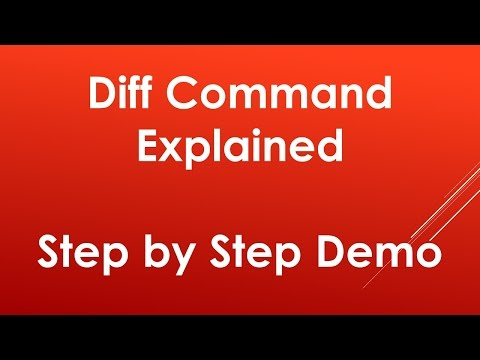 Using diff command in Unix / Linux | Explained with examples