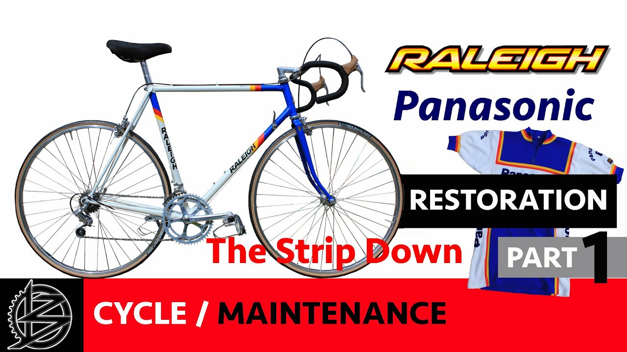 Bike Maintenance - Part 1 - The strip down. 30 Year Old Raleigh Bike ...