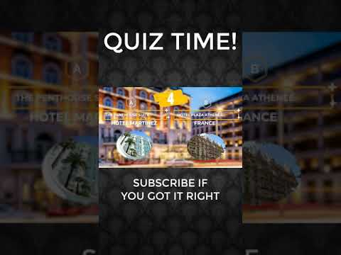 Planning A Travel Holiday in a luxury hotel? (2021 quiz) #shorts