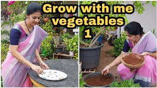 #growwithme Vegetables-1/ beginners guide to grow different vegetables/నాతోపాటు పెంచండి #madgardener