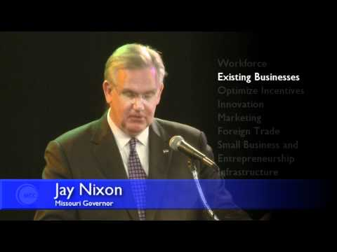 Missouri Governor Jay Nixon Press Conference at MCC-Maple Woods