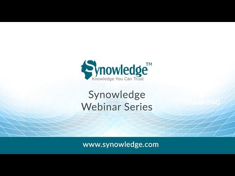 Webinar on Synowledge TrackWise Support Services
