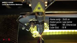 Pleksi Lazer Kesim makinesi / Gritty G3050 Lazer markalama