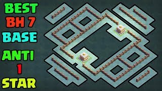 """""""STRONGEST"""" COC BUILDER HALL 7 (BH7) BASE ANTI 2 STAR w / PROOF 