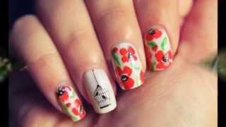 Красивый дизайн ногтей Маки. Маки на ногтях(Красивый дизайн ногтей Маки. Маки на ногтях. Эти цветы очень популярны у разных народов. Их и рисуют, и поют..., 2015-01-27T22:43:57.000Z)
