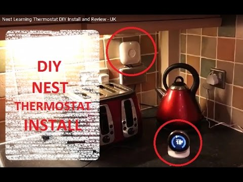 nest learning thermostat diy install and review uk youtube. Black Bedroom Furniture Sets. Home Design Ideas