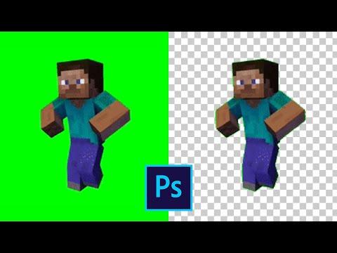 Как убрать фон с гифки персонажа в фотошопе