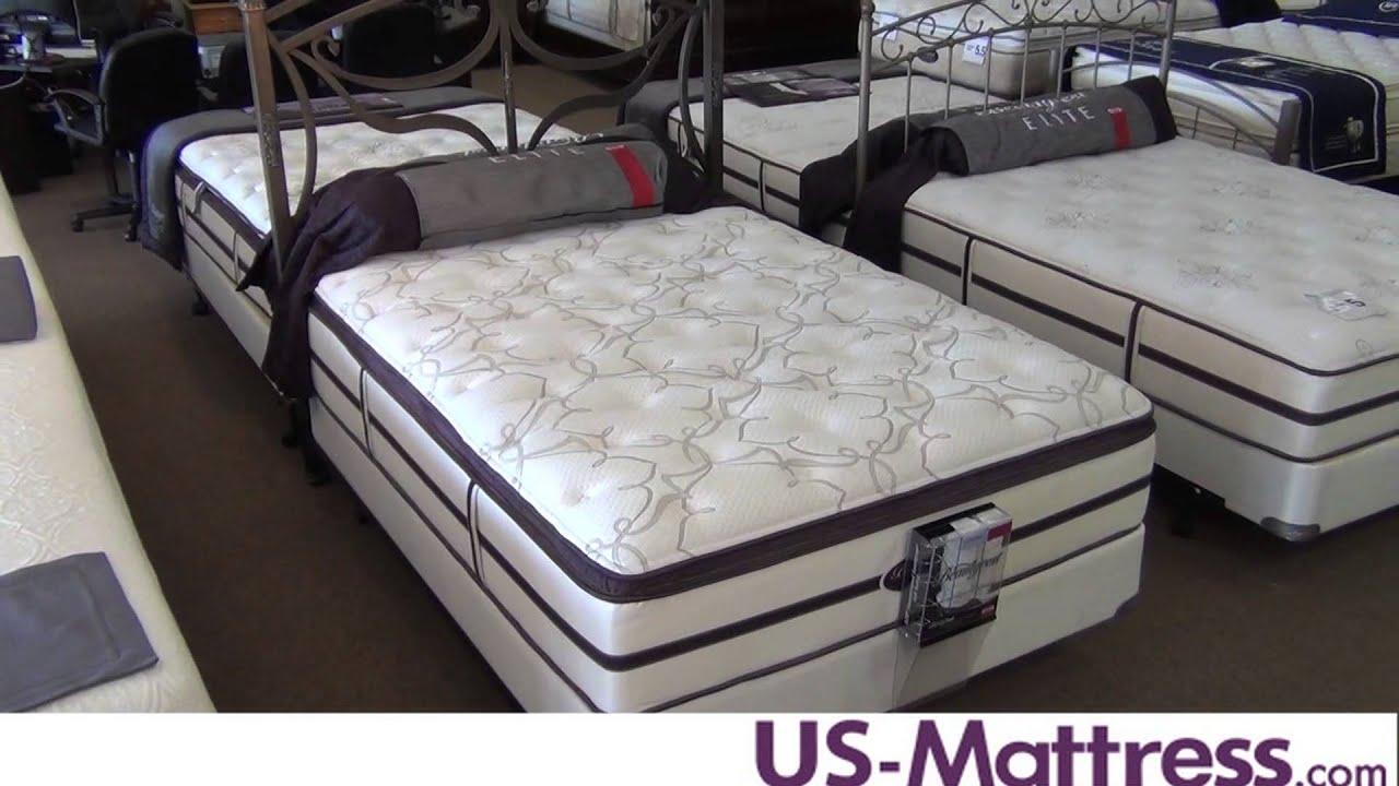 Simmons Beautyrest Elite Ben Hill Plush Pillow Top Mattress Youtube