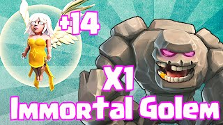 Clash Of Clans 1 GOLEM + 14 HEALERS (Immortal Golem)