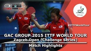 Zagreb Open 2015 Highlights: CHOI Hyojoo/JUNG Yumi vs JEON Jihee/YANG Haeun (FINAL)