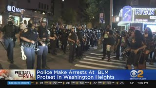 Police Make Arrests At BLM Protest In Washington Heights