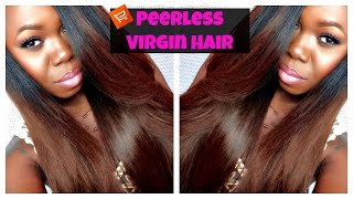 Review| Peerless Virgin Hair (Aliexpress) + Brown Hair Color Tutorial