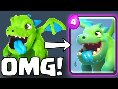 REAL LIFE BABY DRAGON PLUSHIE | Clash Royale MERCHANDISE SHOP + WEIRDEST TROLL DECK CHALLENGE