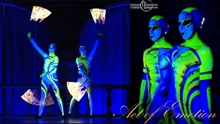 led show pixel show uv body painting