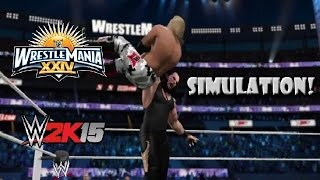 WWE 2K15 SIMULATION: Edge vs Undertaker | Wrestlemania 24