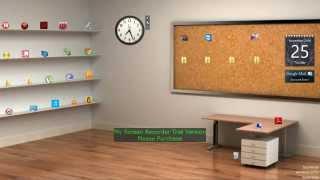 Classic 3d Desktop Workplace Wallpaper Youtube