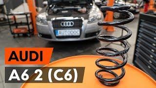Cómo cambiar Muelle de chasis AUDI A6 (4F2, C6) - vídeo guía