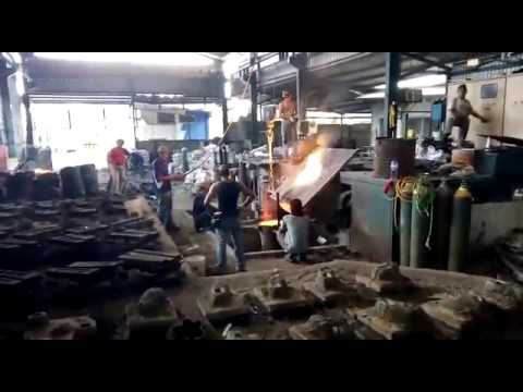 proses foundry matrial SC49 project PT INKA ( Industri Keret