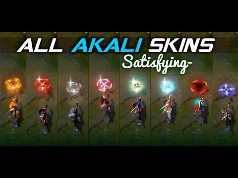 ALL AKALI SKINS •Satisfying• [SKINS PREVIEW] | Skin Comparison 2020