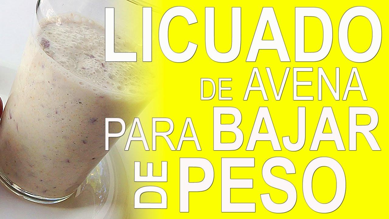 LICUADO DE AVENA PARA BAJAR DE PESO - YouTube
