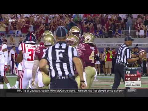 Travis Rudolph touchdown - Ole Miss vs Florida St