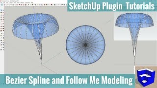 باستخدام بيزيه المفتاح و إتبعيني إلى إنشاء الجلد و إطار في SketchUp (الإرشاد التعليمي)