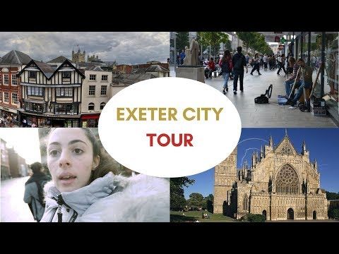 Exeter City Tour: High Street and Cathedral at Exeter's city center | Exeter University Student Life