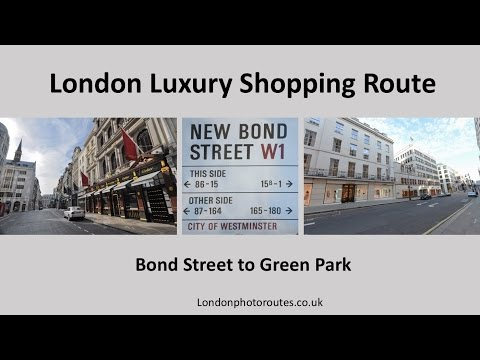 Bond  St to Green Park Shopping Route