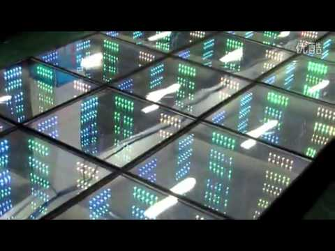 led mirror dance floor (time tunnel effect) - YouTube