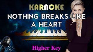 Mark Ronson - Nothing Breaks Like a Heart ft. Miley Cyrus (HIGHER Key Piano Karaoke) Video