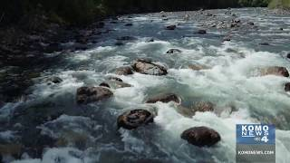 Drone footage of Middle Fork Snoqualmie River