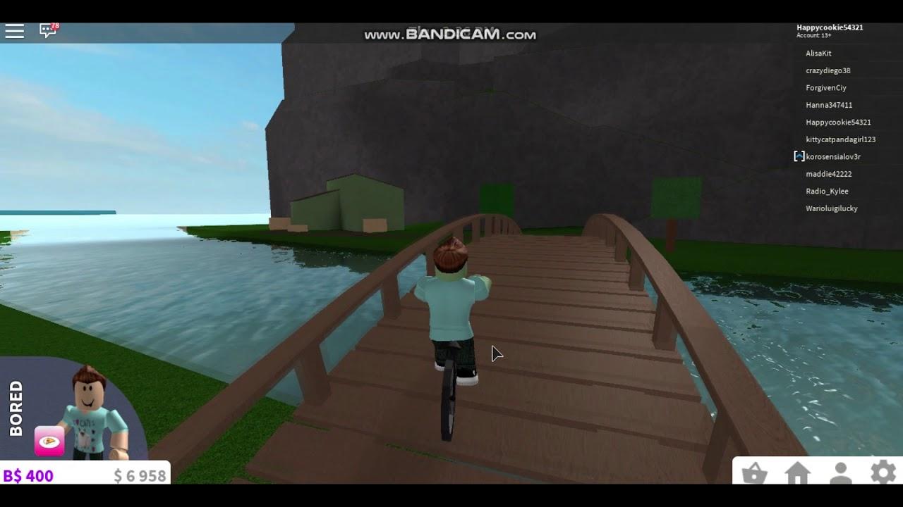 Roblox Bloxburg 1 Riding A Bike Youtube