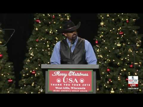 Sheriff David Clarke Speaks at Trump Thank You Rally in West Allis, WI 12/13/16
