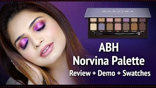 ANASTASIA NORVINA PALETTE | ABH Palette Review | Norvina Palette Swatches + Demo | Krushhh By Konica