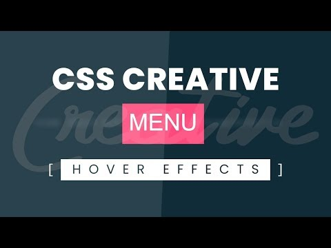 CSS Creative Menu Hover Effects | Html CSS Hover Effects Tutorial