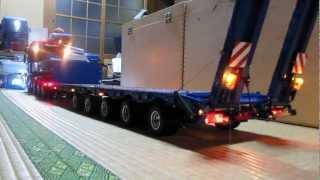 ラジコントレーラー ScaleART MAN TGX 8x8と5軸低床トレーラー テスト RC 5axle lowbed trailer
