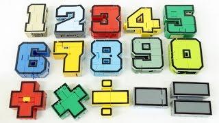 Number Robot Transformation Combination Robot Car Toys 숫자 변신 로봇 15대 숫자에서 로봇으로 변신 합체 장난감 동영상