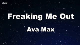 Freaking Me Out - Ava Max Karaoke 【With Guide Melody】 Instrumental
