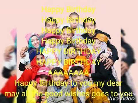 Lirik Lagu Gen Halilintar Happy Birthday..