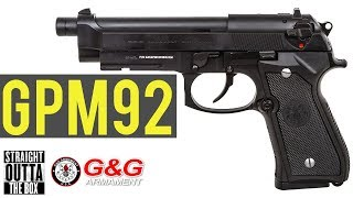G&G GPM92 Airsoft Pistol | Straight Outta the Box