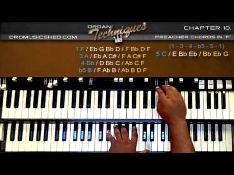 Organ Preacher Chords in F (Organ Techniques) How to play Gospel Organ Tutorial