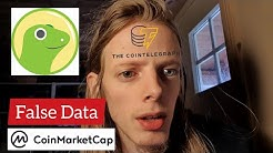 CoinTelegraph, CoinMarketCap and CoinGecko is Doing a Bad Crypto Job, False Data and Un-informed