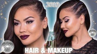 NEW YEARS MAKEUP TUTORIAL + HAIR | Maryam Maquillage