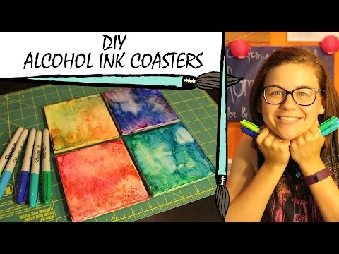 kate-creates-diy-alcohol-ink-coasters-with-sharpie-markers
