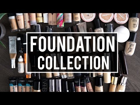 MY FOUNDATION COLLECTION & DECLUTTER | Jamie Paige