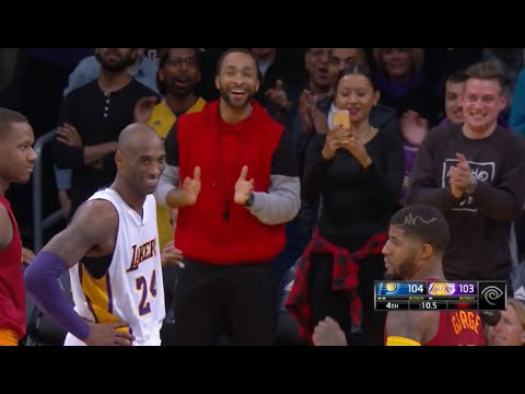 Kobe hits clutch 3 and can't stop laughing at Paul George (after retirement announcement)