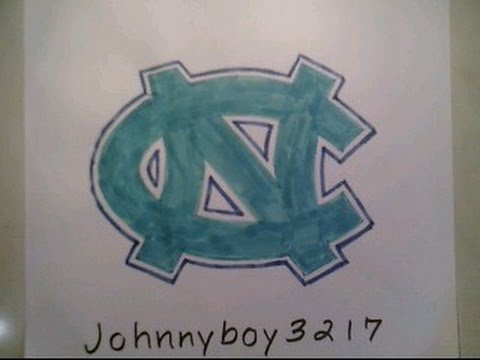 How To Draw North Carolina Tar Heels Logo Sign Step By Tutorial For