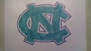 How To Draw North Carolina Tar Heels Logo Sign Step By Tutorial For Begainners Kids