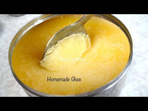 How to make Ghee (Clarified Butter) Video Recipe by Bhavna